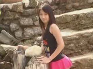Hot And Sexy Japanese Girl Gets Naked At The Public Place And Plays With Her Young Pussy