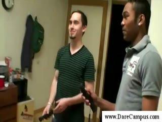 Cute guys in a college dorm