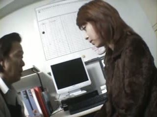 Japanese Woman Taped with Surveillance Camera Doing Illegal Things and Blackmailed by Janitor To Give Blowjob