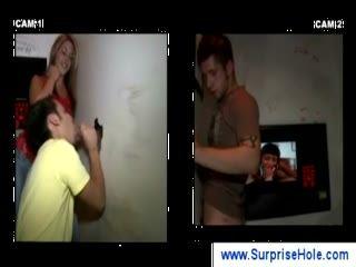 Naughty girl tricks a guy at a gloryhole