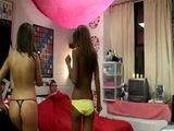 Two college girls share a lucky guy