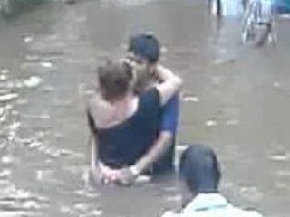 Milf Fucks A Boy In The River