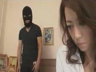 Masked Guy Fucking Japanese Woman
