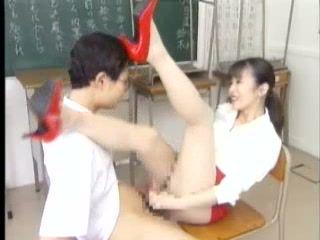Japanese Teacher Violates Her Nerd Student