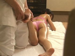 Old Pervert Start To Massage Teen With His Dick Instead To Use His Hands