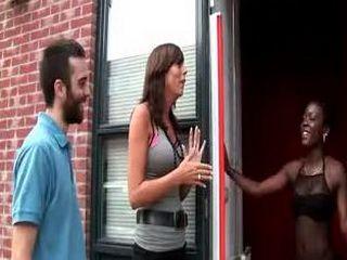 Tourist gets a blowjob from a black hooker