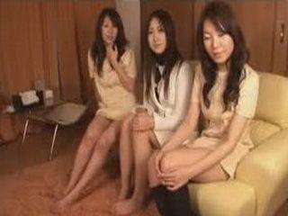 Three Horny Girls Doing Some Masturbation At Home Party