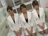 Three Horny Uniformed Japanese Girls Fucking One Guy