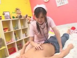 Japanese Teen Girl Likers To Play Doctors Game With Older Guys
