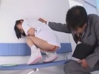 Daddy Sneaks To Have A Look Under Japanese Teen Girl's Skirt