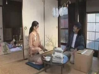 Japanese Lonely Housewife Having More Then A Talk With A Postman
