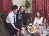 Drunk Japanese Husband Offers His Business Partner His Wife For Sex
