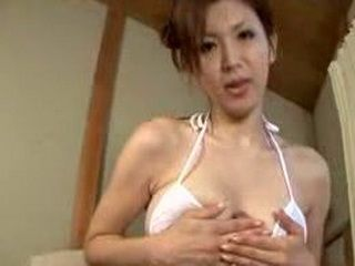 Husband Sitting In The Corner Of The Room And Wanking While Watching How His Japanese Wife Is Banged By Other