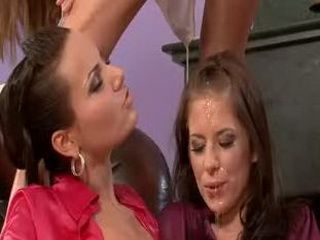 Lesbian pisses on a pussylicking friend