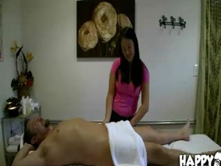 Massage therapist gives erotic massage