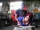 Countryside Love Story - Fucking In A Barn While Dad Sleeps