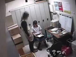 Innocent Japanese Schoolgirl Tricked By Janitor To Come Into His Locker Room