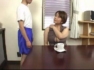Busty Mom Gets Boob Massage