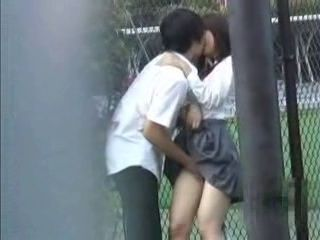 Couple Of Teenagers Caught By Voyeur