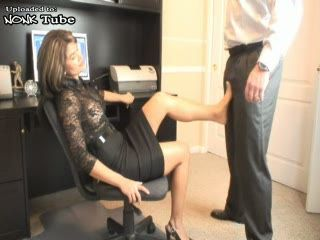 Hot MILF Secretary Abuse Her Young Colleague At Office