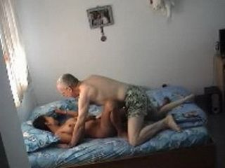 Horny Grandpa Fuck Younger Housewife