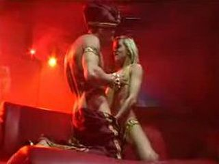 Nasty blonde sex on stage hard