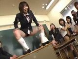 Young Principal gone Bad in Japanese Female Class part 2