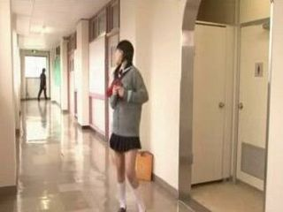 Japanese Girl Masturbate in School Toilet
