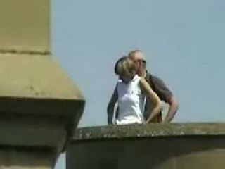 Voyeur Guy Taped Mature Couple on the Fortress