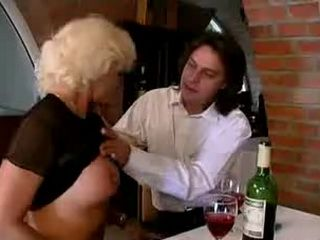 Crazy old mom gets ass fucked hard