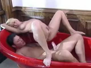 Blonde Gets Anal Fucked In Bathroom Hardcore