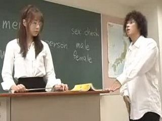 Japanese Student And His Horny Teacher