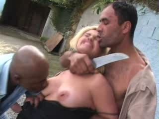 Latina MILF  Fucked Under Knife Threat