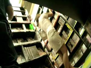 Girl Gives CFNM Blowjob at Library To Stranger