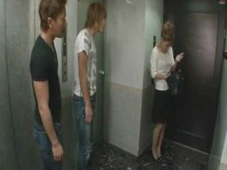 Neighbor MILF Gets Fucked By Two Young Guys