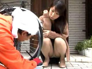Bike Repairman Fucks Naughty Housewife