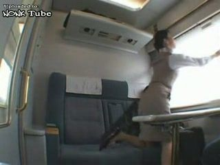 Japanese Train Hostess Fucked By Naughty Passenger