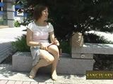 Japanese Girl Having Fun With Dildo In Public