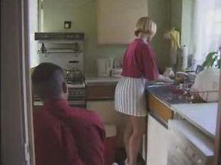 Neighbor Fucked Handsom Housewife in Kitchen