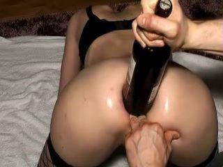 Vine Bottle Anal Insertion