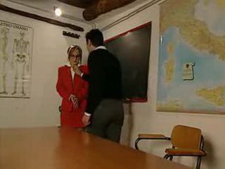 Teacher Provoke Student Boy to Attack her
