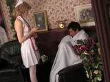 Mature Nurse Heals Young Patient