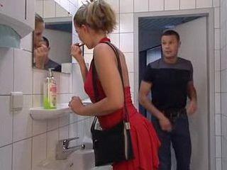 Nasty Slut Fucked in Man Toilet