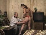 Russian Grandpa Fuck Granddaughters Girlfriend