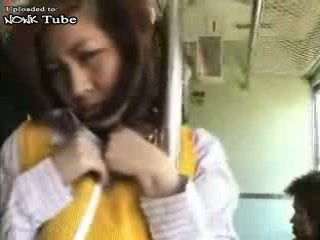 Japanese MILF Groped In Bus