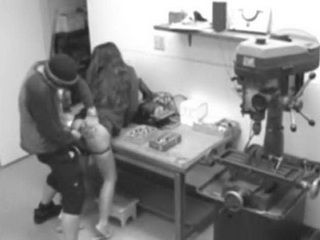 Security Cam Taped Sex on the Work