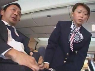 Japanese Stewardess Handjob