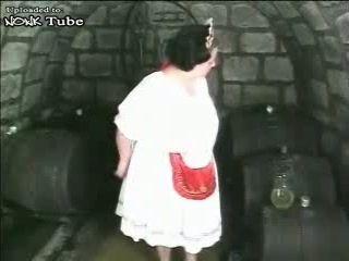 BBW Mature Woman Fucked In a Vine Celar