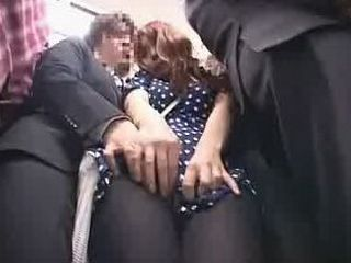 Officelady groped on a train