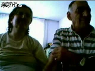 Amateur Turkish Homemade Granny and Grandpa Blowjob and Fucking